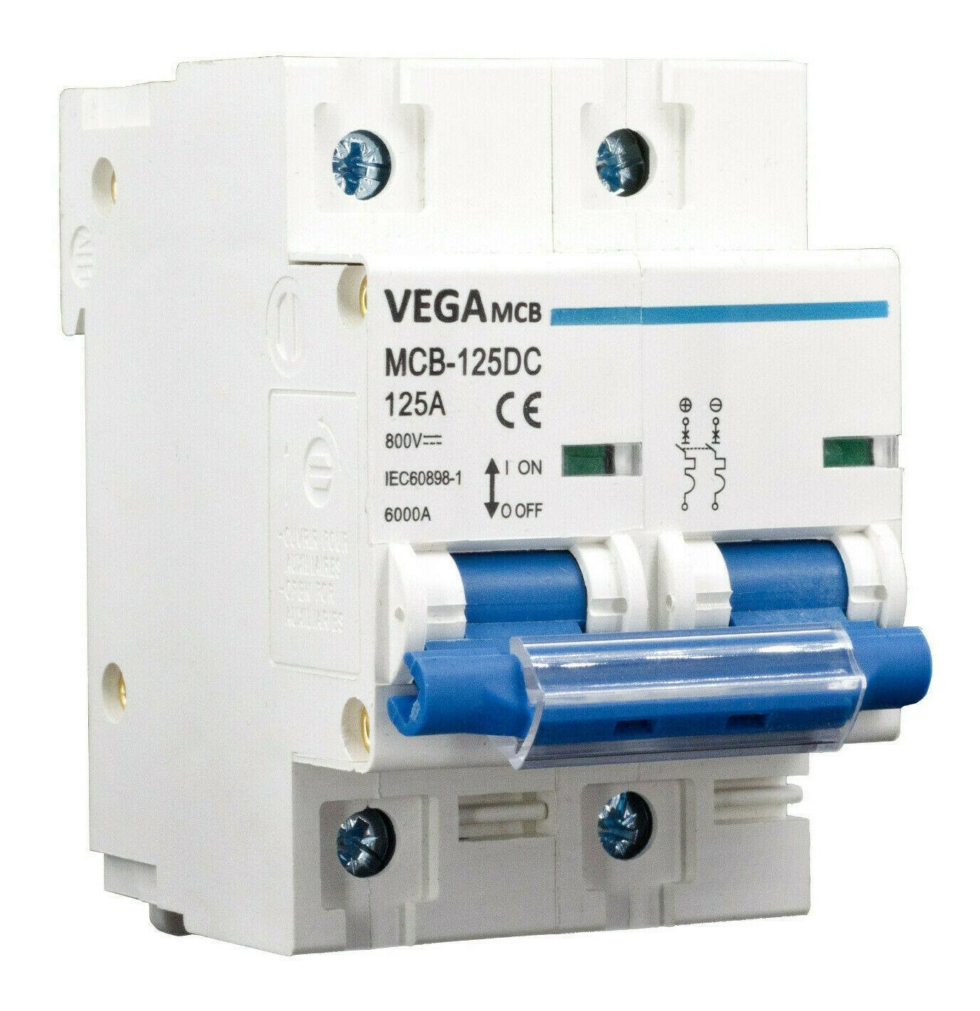 DC-Breaker / DC-Trennschalter VEGA MCB 125 - 800V 2P 125A