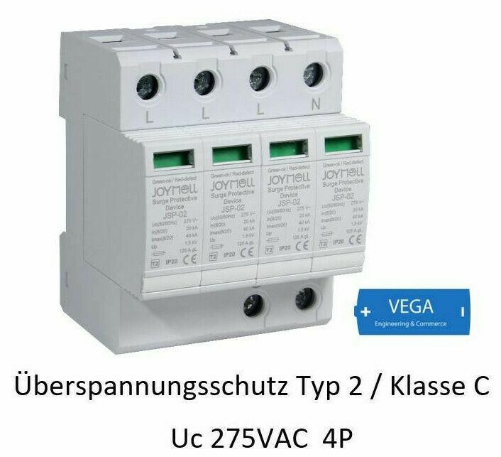 Überspannungsableiter Blitzschutz Überspannungsschutz 4p 20-40kA C II 275VAC CT-C