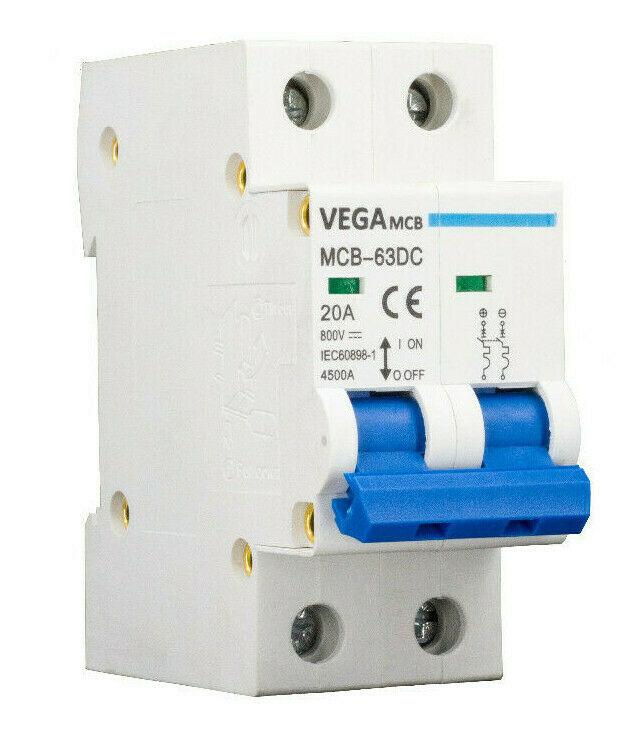 DC-Breaker / DC-Trennschalter VEGA MCB 63 - 800V 2P 20A