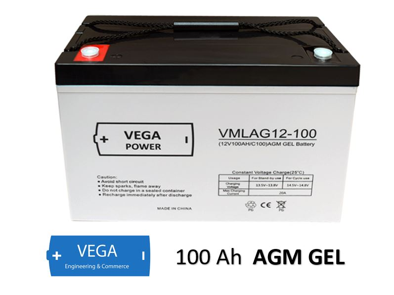 12V 100Ah AGM GEL Batterie Akku Vega Power