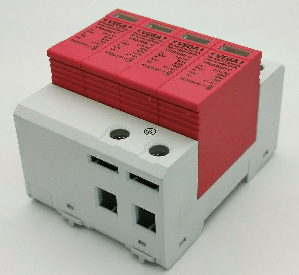Blitz- Überspannungsschutz, Kombiableiter AC 4-polig, Imax 60 kA Imp 7,5kA, T1 T2